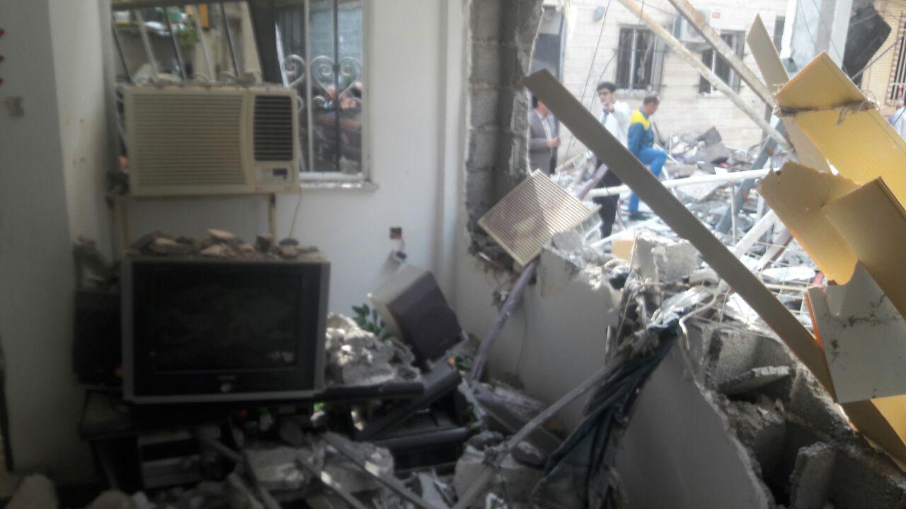 انفجار در یک واحد مسکونی باعث تخریب چند ساختمان در رشت شد